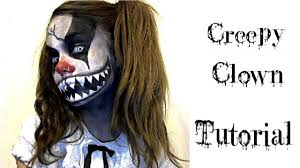 Halloween Half Mask Ideas by Halloween Ideas Makeup U0026 Face Paint Creepy Clown Youtube