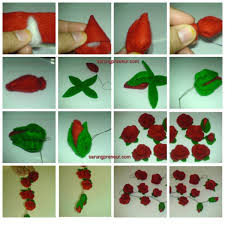 MAKE Rosebud OF FABRIC FLANEL Here Are The Steps
