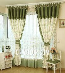 Country Style Living Room Curtains by Best Living Room Green Little Floral Country Curtains