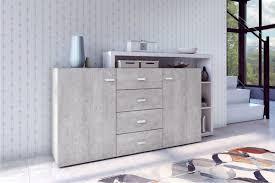 sideboard kommode anrichte weiß beton colorado 180cm neu