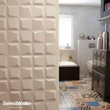 Ebay Decorative Wall Tiles by Decorative 3d Wood Wall Panels Mdf Uk Textured Teak Stacked Square