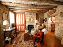 Rustic Living Room Wall Ideas by Very Popular Low Wooden Plafond Over Old Fashions Furnishings