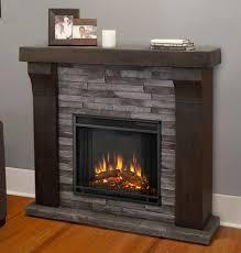 Avondale Cast Gray Ledgestone Electric Fireplace
