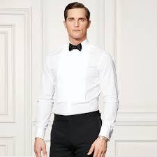 bond pleated tuxedo shirt standard fit dress shirts