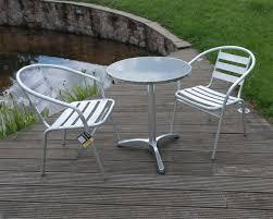Ebay Patio Furniture Uk by Aluminium Lightweight Chrome Bistro Sets Table Chair Patio Garden