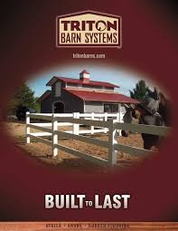 Triton Barn Brochure (1) By Psmitty - Issuu Classic Divider With Partial Center Grill Top Tops Barns And Did You Know Costco Sells Barn Kits Order A Pengineered Triton Barn Systems Rowley Ia 52329 3194484597 155 Best Images On Pinterest Children Homes Homemade Box Stalls Just 2x8s 4x4s Stalls Vetting Area Lpation Chute Foal Coainment Horse Stall Ideas House Interior Half Doors Suggestions 8 Wood Genieve Using Premier Horse Window Priefert 143 Stable Dream Cupolas Pole Interior Design Swdiebarntimberframe