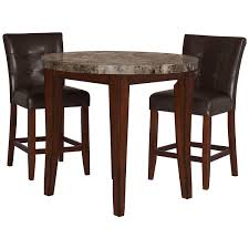 Value City Furniture Kitchen Sets by City Lghts Round Marble High Tbl 2 Barstools