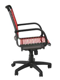 furniture black flat bungee office chair without arms why