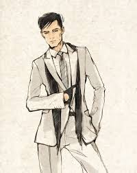 Fashion Drawing Model Men Mens Illustration By