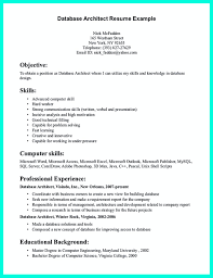 In The Data Architect Resume One Must Describe Professional Best Of Architecture Examples Objective
