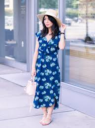 floral midi dress just a tina bit