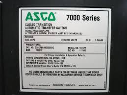 Keyence Light Curtain Wiring by Asco G7actbb33000c5xc 3000 Amp 208y 120 4w 7000 Series Isolation
