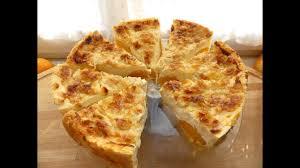 pfirsichtorte pfirsich kuchen mit gehobelten mandeln mürbeteig einfach und schnell pudding quark