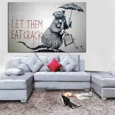 pop kunst graffiti hd druck maus stehlen geld abstrakte wand bilder lassen sie sie essen riss leinwand malerei für wohnzimmer cuadros