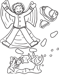 Fun In The Snow Winter Coloring Pages