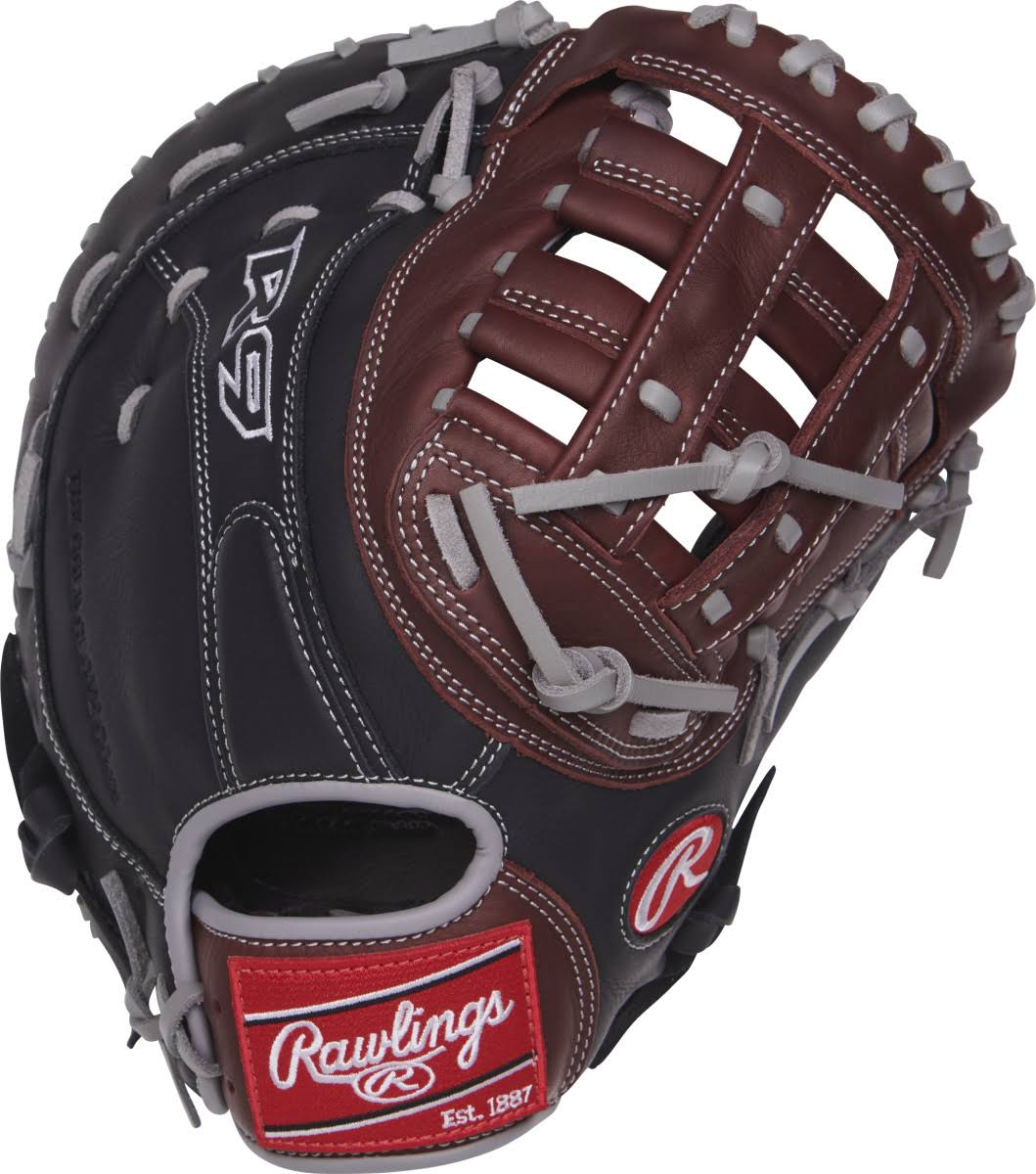 Rawlings R9 Series 1st Base Mitt - Right Handed Thrower, 12.5""