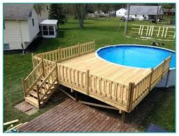 Above Ground Pool Decks Swimming For Sale