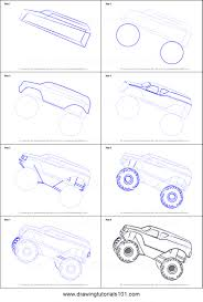 How To Draw A Monster Step By Step How To Draw A Monster Truck Step ...