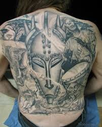 African Tattoo On Back