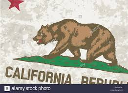 Flag Of The State California Grunge
