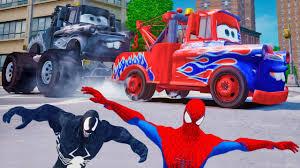 100 Spiderman Monster Truck Disney Pixar Cars Mater Custom S With Venom