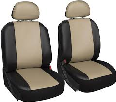 Oxgord Tactical Floor Mats by Faux Leather Black Tan Seat Cover 6pc For Honda Accord W Head