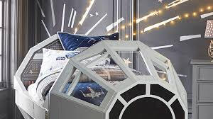 Millennium Falcon Bed Lightspeed Mural By Pottery Barn   StarWars.com Pottery Barn Kids Star Wars Bedroom Kids Room Ideas Pinterest Best 25 Wars Ideas On Room Sincerest Form Of Flattery Guest Kalleen From At Second Street May The Force Be With You Barn Presents Their Baby Fniture Bedding Gifts Registry Boys Aytsaidcom Amazing Home Paint Colors Nwt Bb8 Sleeping Bag Never 120 Best Bedroom Images Boy Bedrooms And How To Create The Perfect Wonderful Pottery Star Warsmillennium Falcon Quilted