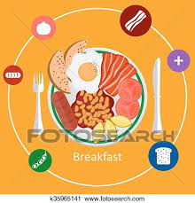 Clipart Of Concepts For Breakfast Time K35965141