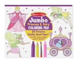 Melissa Doug Jumbo Princess Fairy Coloring Pad