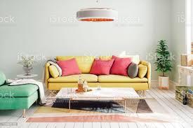 bunte moderne wohnzimmergestaltung stockfoto und mehr bilder deco