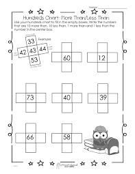 Halloween Multiplication Worksheets Grade 4 by Hundreds Chart Worksheet 10 More Than 10 Less Than Squarehead