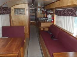 Orion Bus Motorhome Conversion Great Detroit Diesel V6 92TA Engine 12 MPG Sleeps Four To Six Queen Bed In Rear Beautiful Hardwoods Interior Loaded