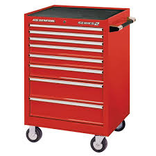 100 Service Truck Tool Drawers 26 In X 22 In Single Bank Red Roller Cabinet