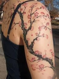 Cherry Blossom Tree Armband Tattoos 1