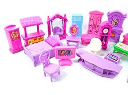 22pcs puppe und puppenhaus möbel spielset wohnzimmer salon