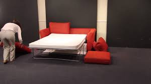 Ektorp Sofa Bed Cover Red by Opening And Closing A Two Fold Sofa Bed Youtube
