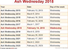 When Is Halloween 2014 Singapore by When Is Ash Wednesday 2018 U0026 2019 Dates Of Ash Wednesday