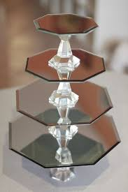 dollar store mirrors and candlesticks to make a beautiful cupcake