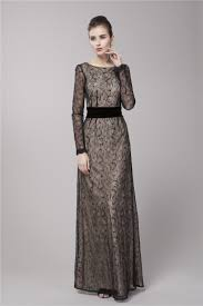 gwyneth paltrow inspired black lace long sleeve formal evening