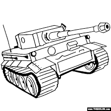Tank Coloring Pages Free War Military 17