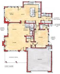 One Level House Floor Plans Colors One Story Open Floor Plans Two Story Plan First Floor Flex