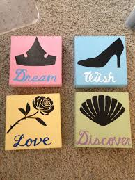Disney Character Bathroom Sets by 25 00 On Etsy Disney Princess Painted Canvas Set Https Www