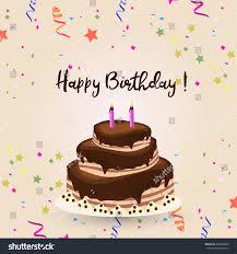Happy Birthday Cake Card Stock Vector Shutterstock