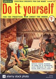 1950s uk do it yourself magazine cover stock photo royalty free
