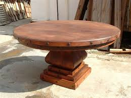 Amazing Rustic Round Dining Table Tables Pertaining To Idea 3