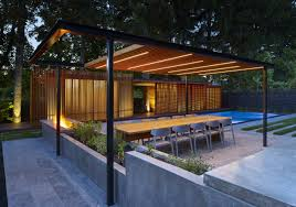 A Backyard Pavilion And Pool For The Perfect Escape - Design Milk Pergola Design Awesome Pavilions Pergola Phoenix Wood Open Knee Pavilion Backyard Ideas For Your Outdoor Living Space Structures Pergolas Poynter Landscape Plans That Offer A Pleasant Relaxing Time At Your Backyard Pavilions St Louis Decks Screened Porches Gazebos Gallery Pics Gazebo Images On Remarkable And Allgreen Inc Pasadena Heartland Industries Timber Frame Kits Dc New Orleans Garden Custom Concepts The Showcase