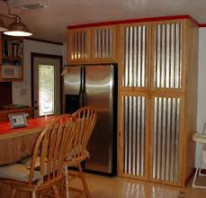 Kitchen Cabinets With Tin Please Click On The Thumbnails For A Intended Popular Residence Metal Cabinet Doors Prepare