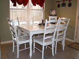Cheap Kitchen Table Sets Canada by Leather Polyester Solid White Upholstered Kitchen Table And Chairs