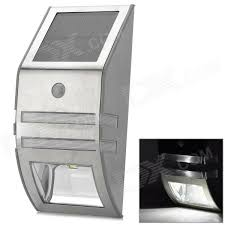 outdoor wall mounted solar motion sensor led white l silver