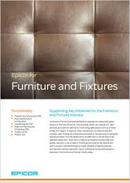 ERP Solutions for Furniture and Fixture panies